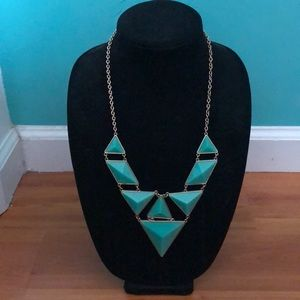 Turquoise fashion statement necklace